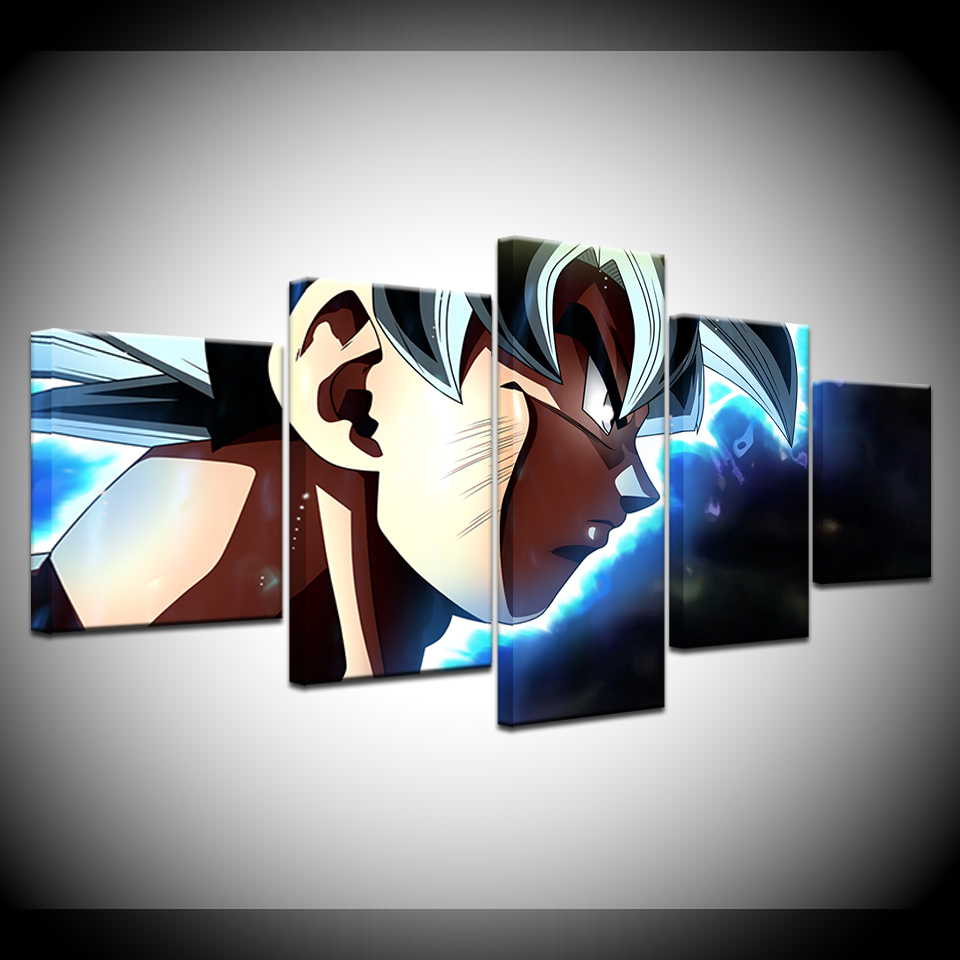 Canvas Painting Dragon Ball Super HD Wallpapers 5 Pieces Wall Art Painting Modular Wallpapers Poster Print for Home Decor