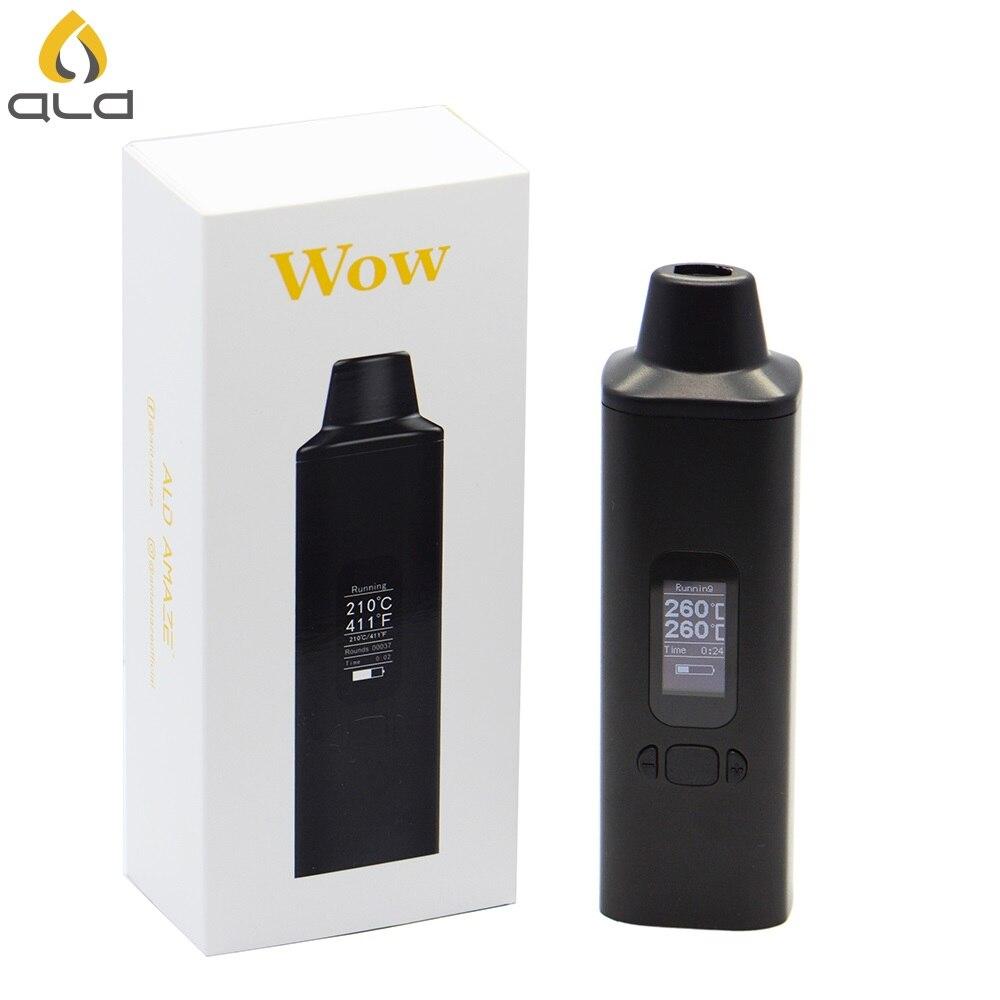 ALD AMAZE W0W V2 Kit de vape herbe sèche Cigarettes électroniques 1800mAh avec affichage OLED et vaporisateur à base de plantes vibrant alerte