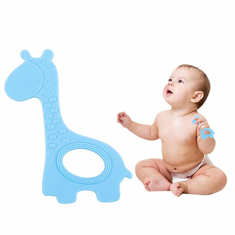 Bebê bonito girafa dentição chupeta molar mastigar infantil criança silicone bpa-livre natural orgânica grau alimentício apaziguar mordedor brinquedo