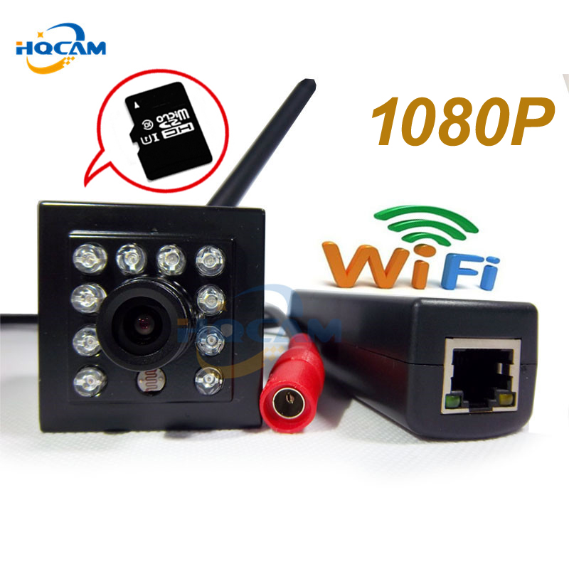 HQCAM POE 1080P Wifi audio Night vision camera HD Network Mini IP Camera 2MP Security P2P