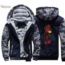 Dealpool Groot Hoodie Men I Am Pool Hooded Sweatshirt Coat 2018 New Winter Fleece Thick Funny Print Jacket Super Hero Sportswear цена и фото