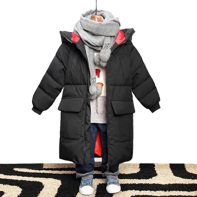 49e5e3ddebc21 Jacket for Boys 2018 New Brand Hooded Winter Jackets Graffiti Camouflage Parkas  For Teenagers Boys Thick