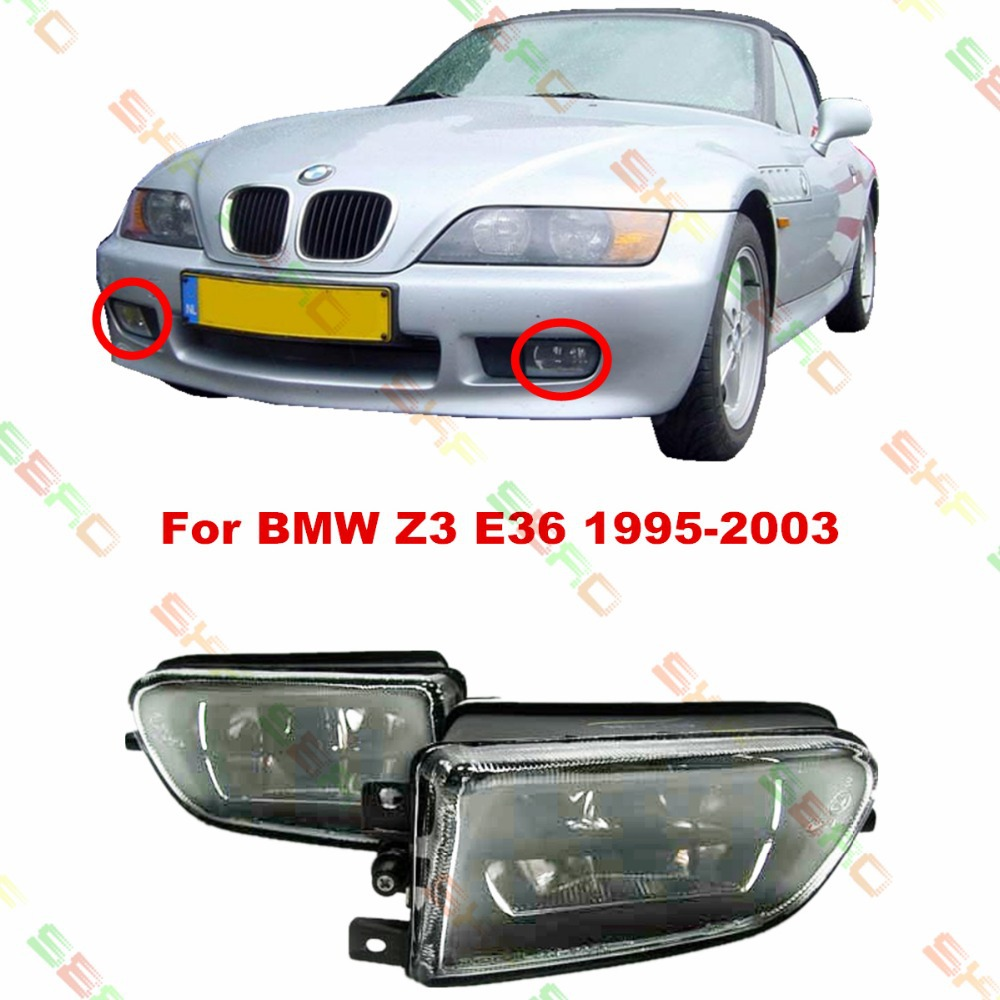 For BMW E36 Z3  1995-2003  car styling fog lights fog lamps  1 SET  Crystal glass защитные аксессуары car pakistan bmw alpina