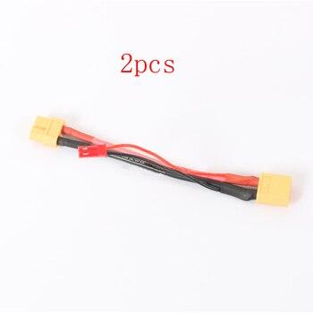 2 uds cable de extensión de batería accesorios RC XT60 paralelo JST 10CM parche Cable de conexión para modelo de cardán