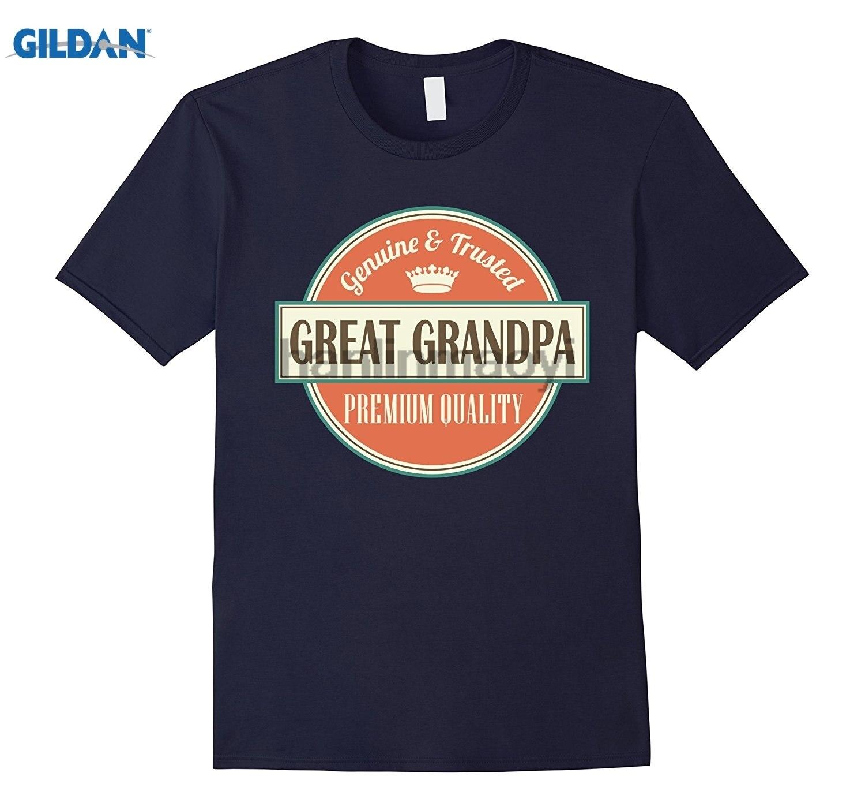 GILDAN Great Grandpa T-shirt Vintage Fathers Day Gift Tee