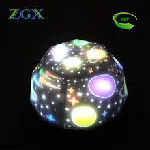 LED Night Light rotate Projection Starry Sky Star moon Master Children Kids Baby spin Romantic colorful Led USB Projector lamp все цены