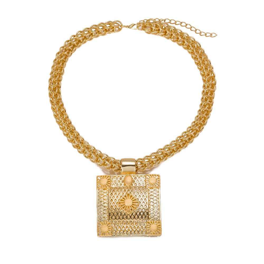 MUKUN คุณภาพดีชุดเครื่องประดับสำหรับสตรีดูไบ Gold สีชุดเครื่องประดับแอฟริกันผู้หญิงใหญ่สร้อยคอวันแม่ของขวัญ