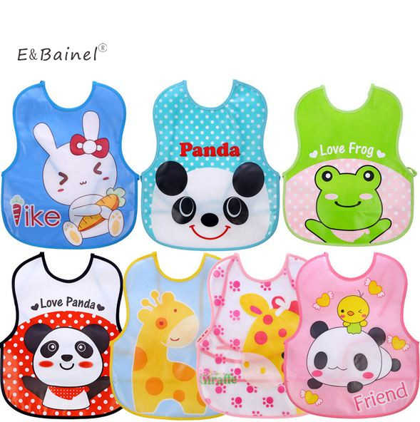 E&Bainel Cute Cartoon EVA Baby Bibs Waterproof Baby Bandana aBbador Bib Boys Girls Infants Burp Cloth Clothes Feeding Care