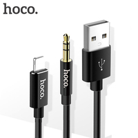 HOCO USB Cable For IPhone X USB To MFi Lightning 3 5mm AUX Cable Fast Charger