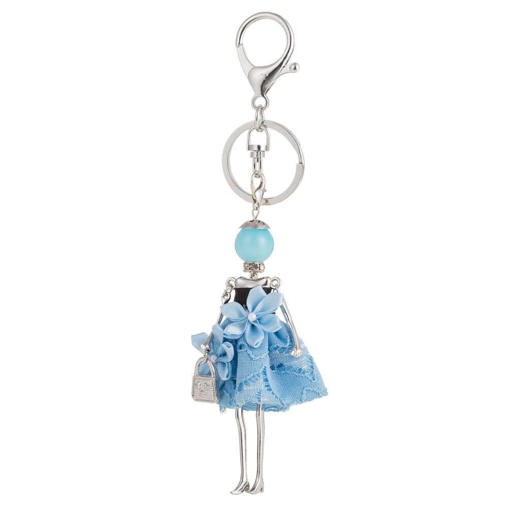 HOCOLE новая кукла Детские брелки ручной работы симпатичный брелок для женщин автомобиль кулон горячая девушка статусные модные ювелирные изделия брелок со стразами кольцо