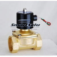 Free Shipping brass material Electric Solenoid Valve for Water Air normal close 1 2W250 25, two way valve,