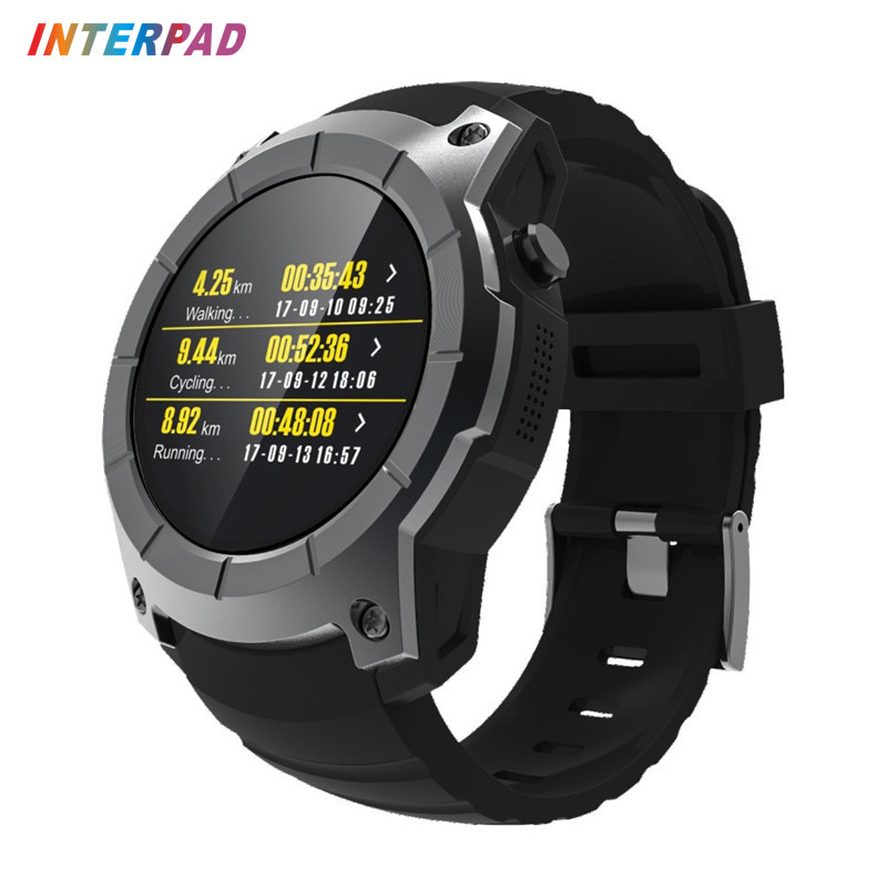 Interpad GPS Smart Watch MTK2503 Fitness Tracker Heart Rate Monitor Smartwatch Sports Watch For Xiaomi Huawei iOS Android 2017 smart watch gps sports watch fitness heart rate tracker smart healthy watch reloj inteligente for android ios8 smartwatch