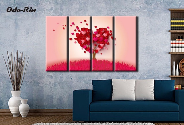 Familie zitkamer decoratie hoogwaardige moderne figuur muur canvas