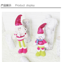 2017 New Style Santa Claus Snow Man Reindeer Doll Christmas Decoration Xmas Tree Ornaments Pendant Hanging for Kids Party Gift