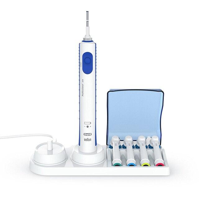 1 Set Titolare Spazzolino Da Denti Con Braun Dentifricio Dispenser + 4 Spazzolin