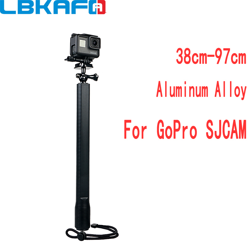 LBKAFA Aluminum Alloy Selfie Stick 360 Degree Adjustable Monopod For Gopro Hero 6 5 4 3+ SJCAM SJ4000 SJ5000 SJ6 SJ7 For XIAOYI bz m 360 degree rotation octopus monopod suction cup holder for gopro hero 4 3 2 1 sj4000 black