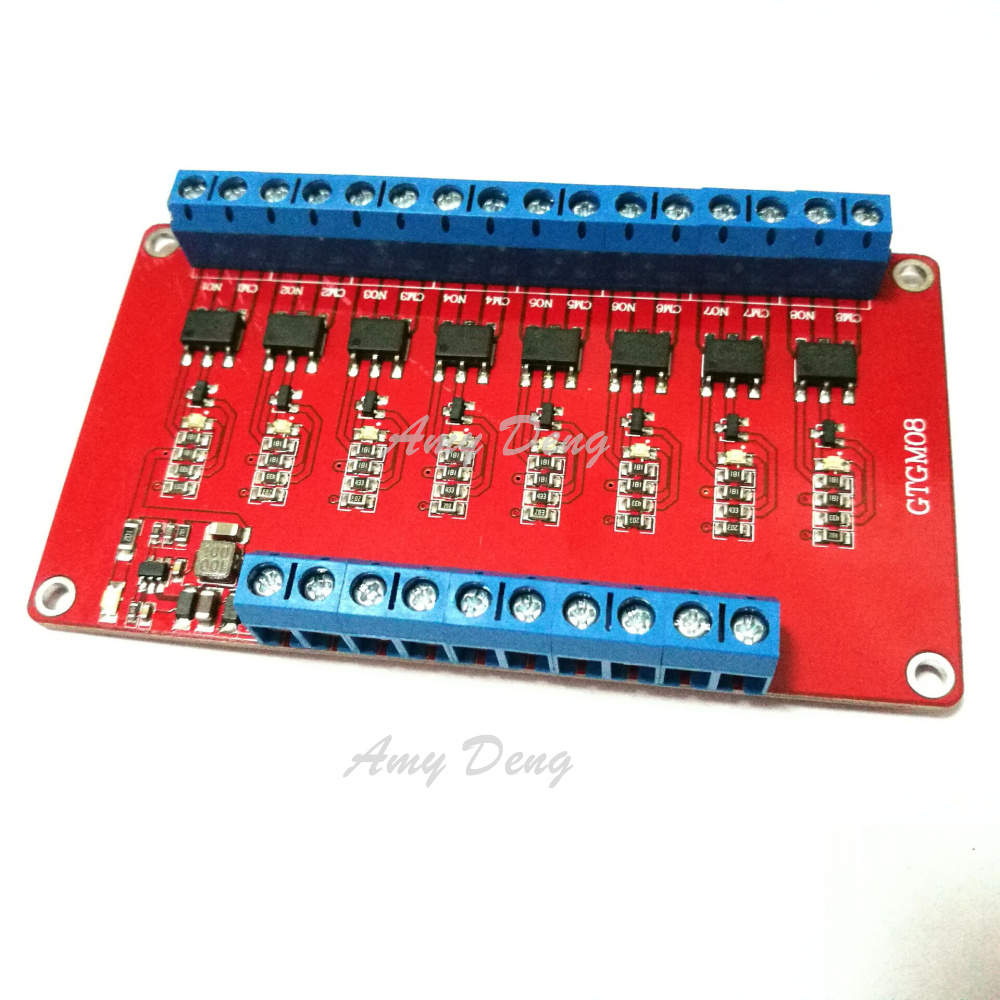 2pcs Lot Gtgm08 8 Way Solid State Relay Module High Level Trigger Need Diode 48v 1a Isolated Output In Integrated Circuits From Electronic Components Supplies On