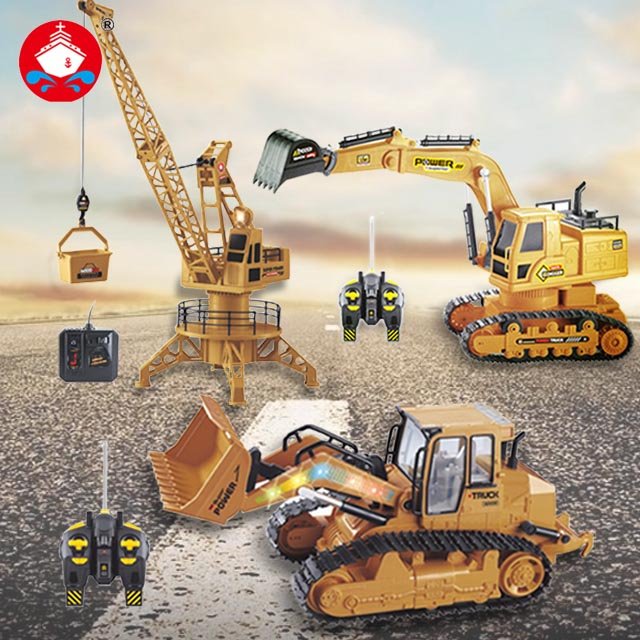 Remote Control RC Truck Engineering Vehicles Excavator Bulldozer Crane Off-Road Loaded Sand Electric Car Toys Hobbies For Kids