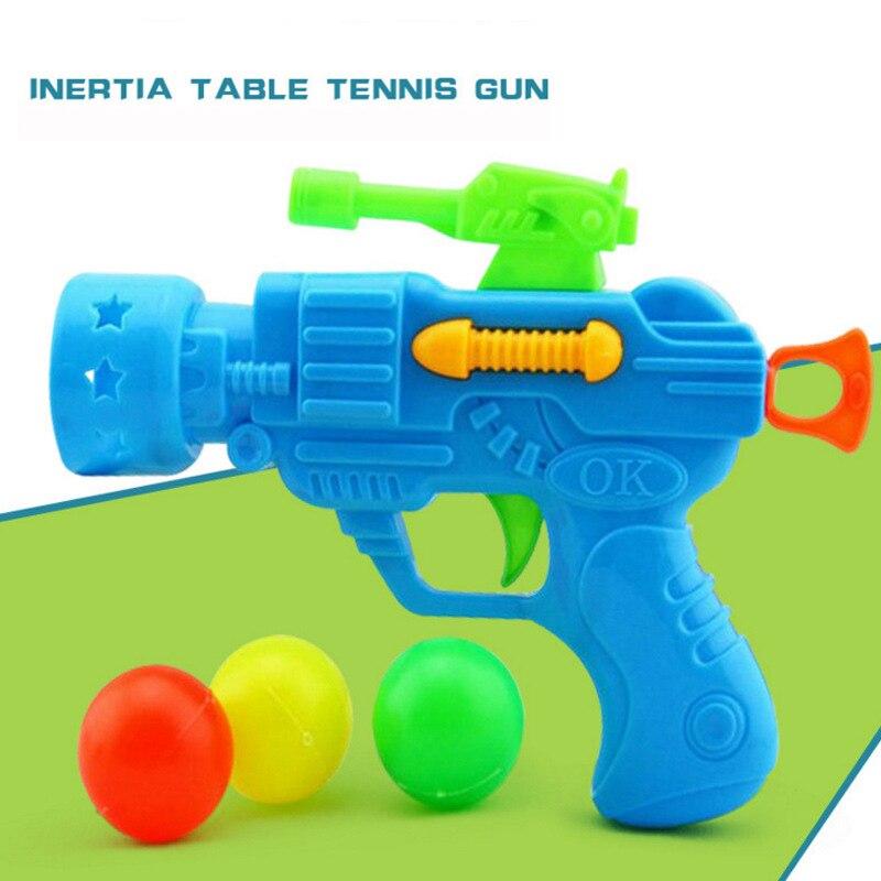 New Children Toy Gun Elastic Table Tennis Gun Creative Novelty Kid Child Interest plastic Pistol Toy For Children