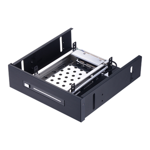 Uneatop ST5512 2.5in Tray-less SATA Metal SSD HDD Mobile Rack for 5.25in Optical Drive Bay HDD Enclosure