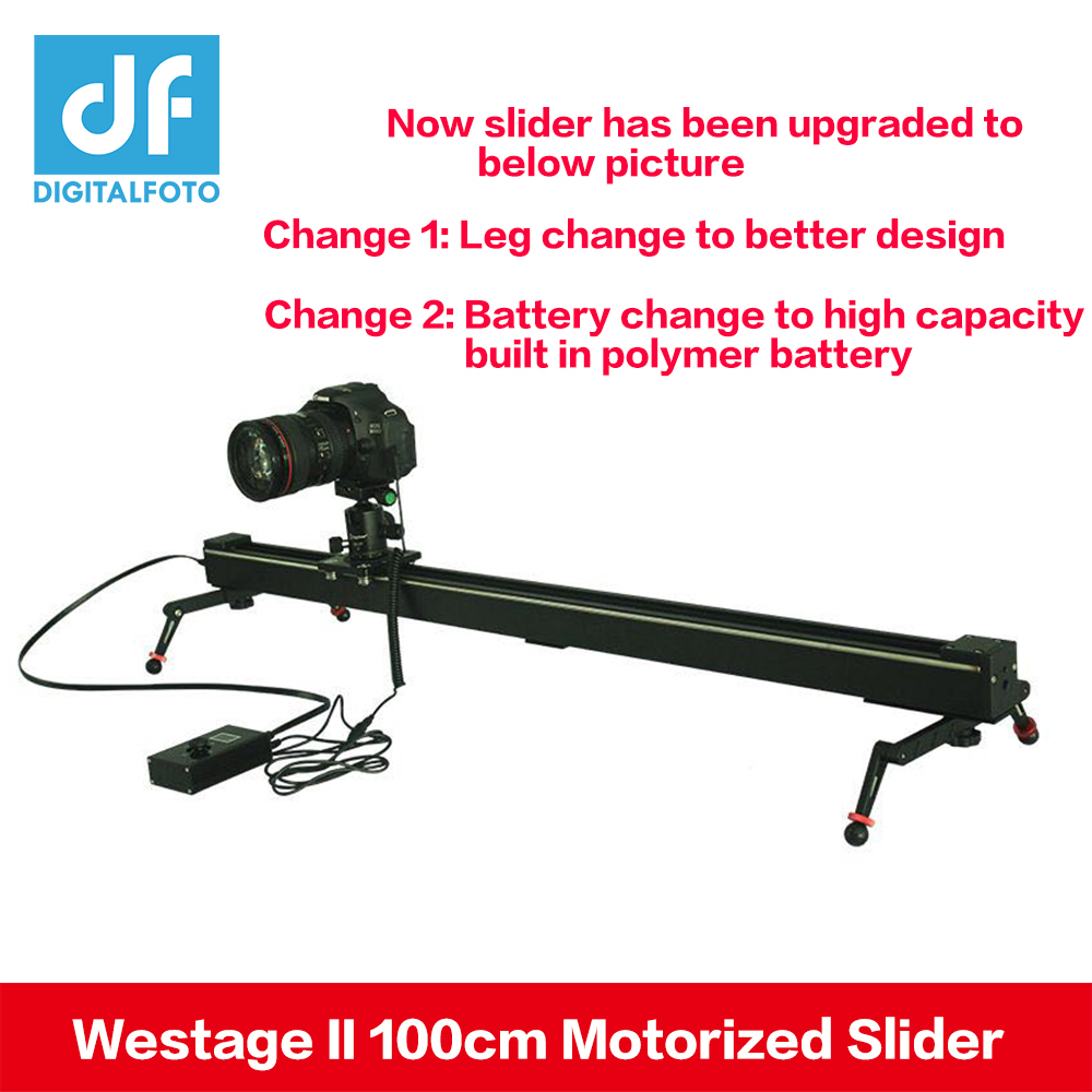 DF DIGITALFOTO Электрический управление 1 м 100 см Westage II timelapse камера автоматизированный слайдер Трек Долли железнодорожных для Canon sony Nikon