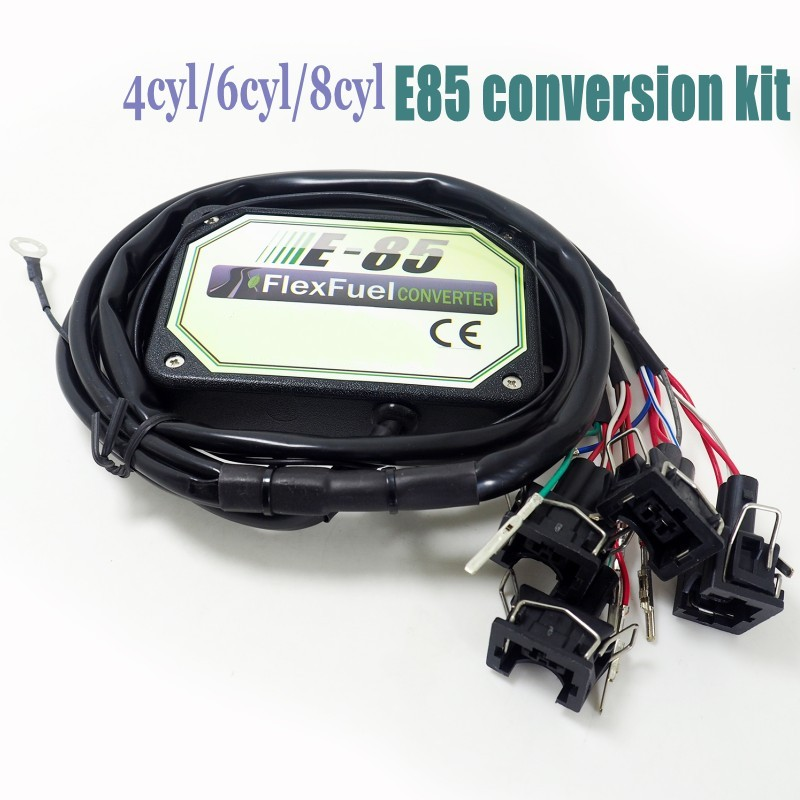 4cyl 6cyl 8cyl E85 Conversion Kit Flex Fuel Ethanol Alternative Fuel With Cold Start Asst. Connectors Available For EV1, EV6