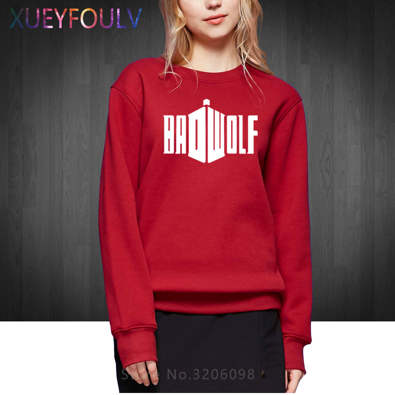 New Fashion Winter Autumn BBC DR WHO Bad Wolf Women Sweatshirts Doctor Who Sitcoms Hoodies Pullover
