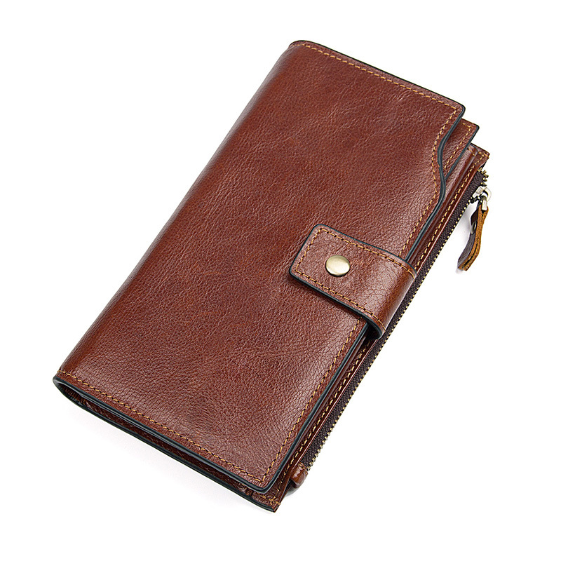 JMD Men's Leather Purse Long Business Hand Bag Leather Wallet Card Package 8103(China)