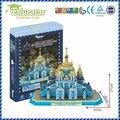 Ukraine Buliding model St. Michael's Cathedral 3D puzzle model DIY