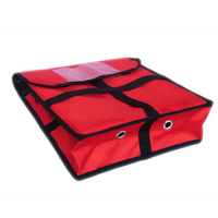 12 Red Borsa Termica Pizza Food Delivery Bags Thermos Foil Insulation Bag Portable Pizza Incubator Outside