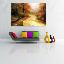 цена на Thomas Kinkade Autumn Lane Canvas Painting Prints Living Room Home Decoration Modern Wall Art Oil Painting Posters Pictures Art