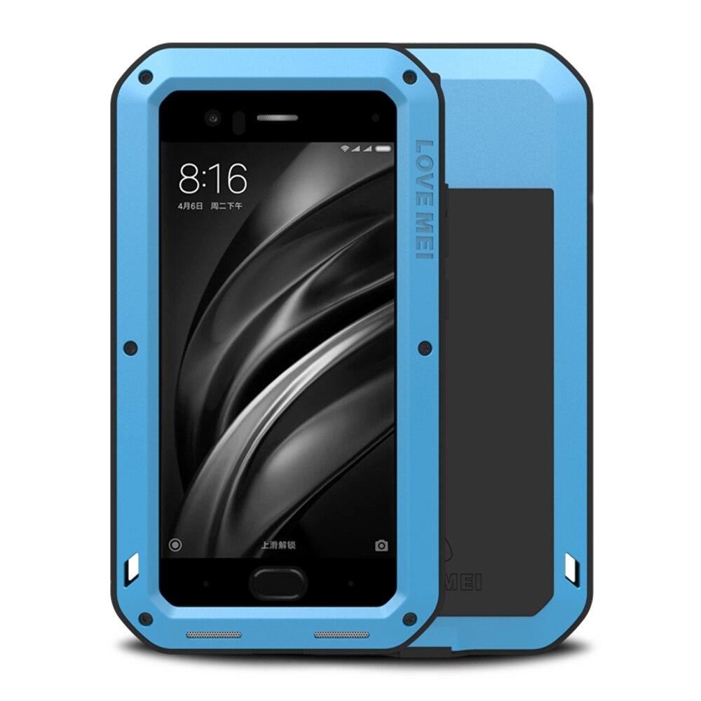 bilder für Aluminum Fall Für Xiaomi Mi6 Fall Rüstung Stoßfest + Gorilla glas Ganzkörper-schutzmaßnahmen Telefon Cpver Für Xiaomi MI 6 fall