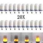 20X Новинка 2017 года E27 E26 2835SMD светодиодный светодиодные лампы с эффектом пламени лампочки 10 W мерцание пламени огни 1900 K 2200 K AC85 265V - 1