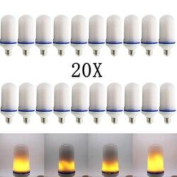 20X2017 nowy E27 E26 2835SMD lampa LED efekt płomienia lampka imitująca ogień żarówki 10 W migotanie emulacji płomień światła 1900 k-2200 K AC85-265V