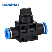 Free Shipping 10Pcs / Lot HVFF Pneumatic Flow Control Valve Hand Hose To Connector Air Push In 2Way 3 Way Fittings Sanmin