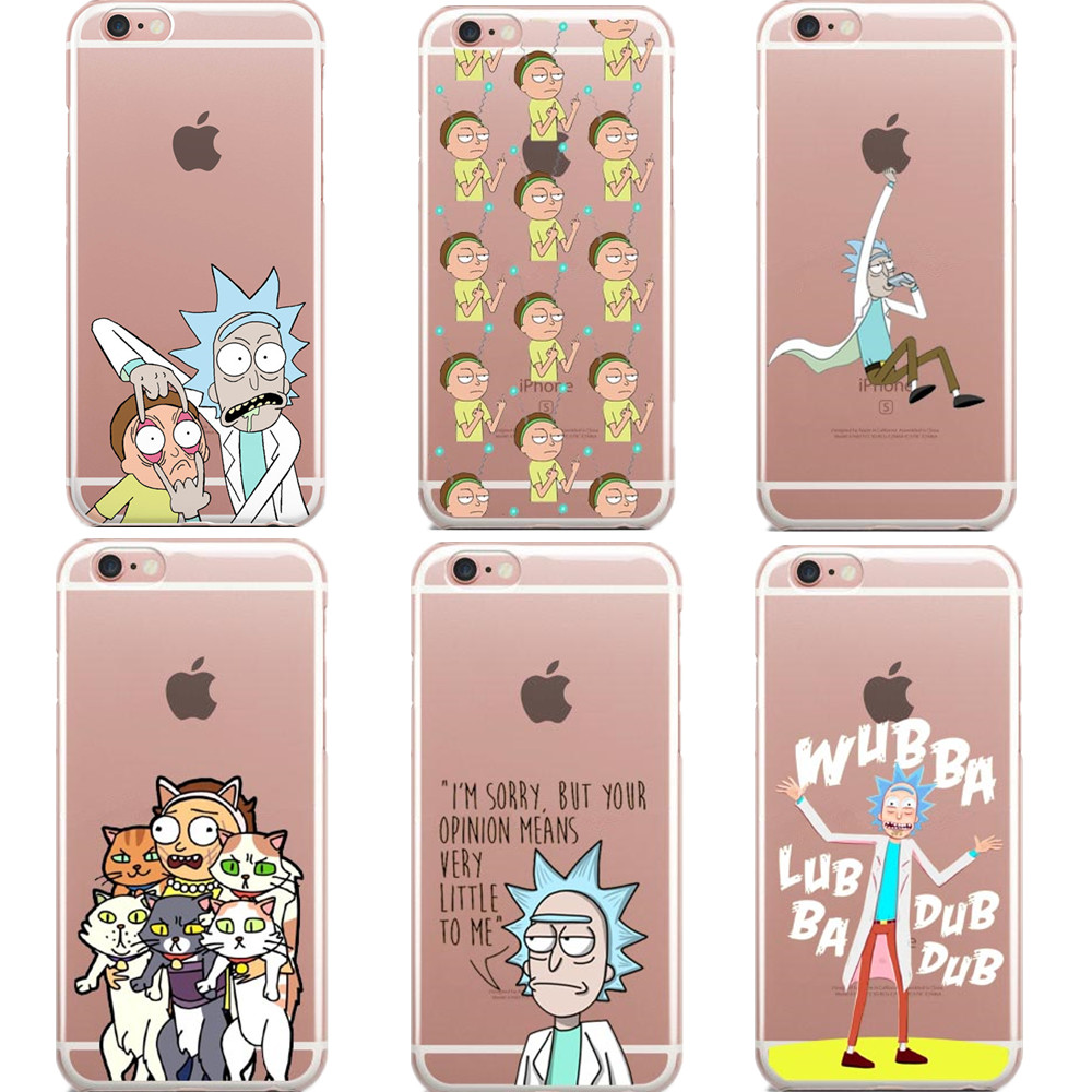 for fundas iphone 6 case se 5s 6 6s 7 plus rick and morty soft silicon tpu cover 2017 new. Black Bedroom Furniture Sets. Home Design Ideas