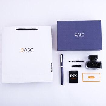 OASO Fountain Pen Ink Set Gift Box Double Nib Interchangable EF F Nib Ink Pens for Writing Business Gift Office School Supplies