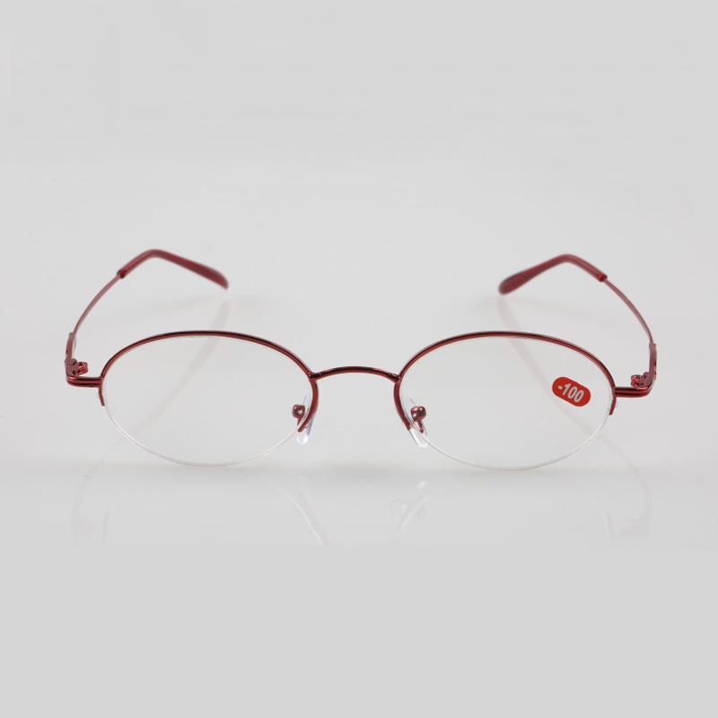 Seemfly Diopter 1 1 5 2 2 5 3 3 5 4 4 5 5 5 5 6 Finished Myopia Glasses Women Metal Half Frame Nearsighted Eyeglasses in Men 39 s Eyewear Frames from Apparel Accessories
