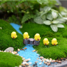 Hot Sale 5pcs/lot Miniature Fairy Figurines Cute Mini Chick Garden Miniatures Artificial Micro Landscape Resins