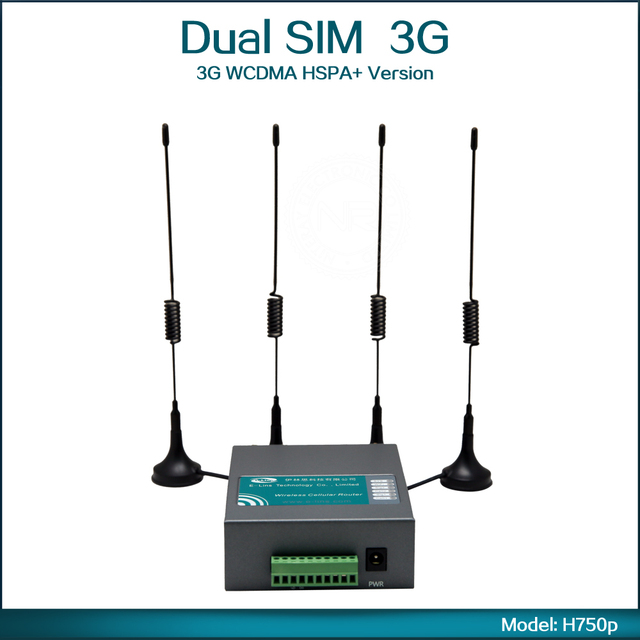 Unlock 21Mbps Wireless Mobile Hotspot 3G WIFI Router Support Dual 3G WCDMA HSPA+ WiFi For Industrial Application ( Model: H750p)