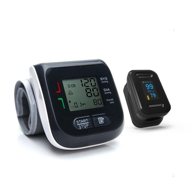 BOXYM Fingertip Pulse Oximeter & Wrist Blood Pressure Monitor SpO2 PR Sphygmomanometer Family Health Care 4