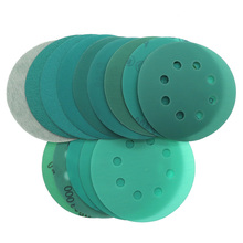 10Pcs 5 Inch 125MM 8 Holes 60 to 2000 Grits Hook and Loop Film Green Sandpaper Sanding Disc  Abrasive Tools