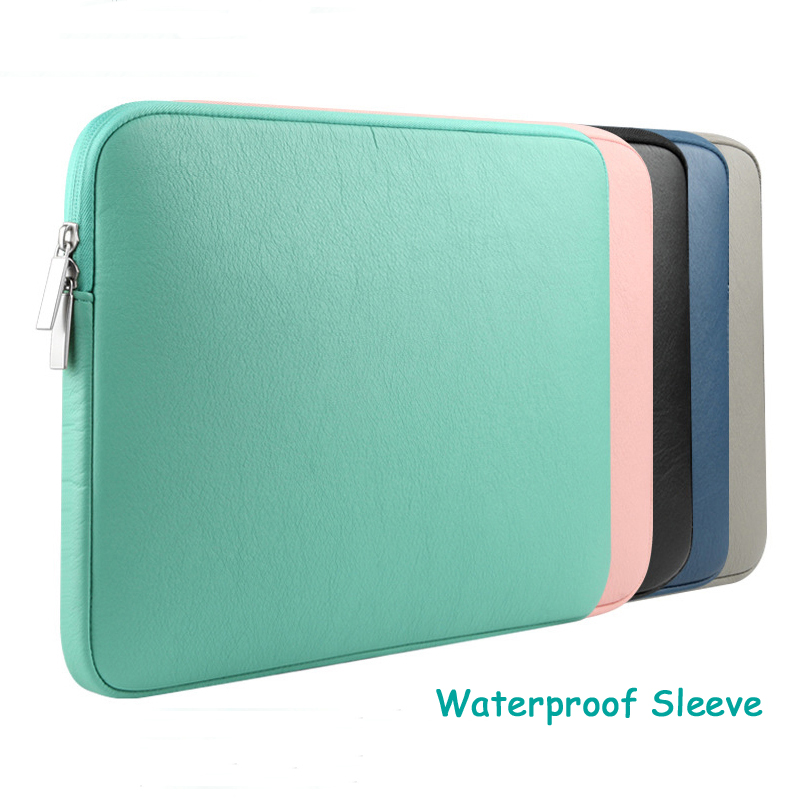 Waterproof Sleeve Bag for Macbook Air 13 11 Pro 13 15 Retina 13 15 PU Leather Protective Zipper Notebook Case Computer Cover