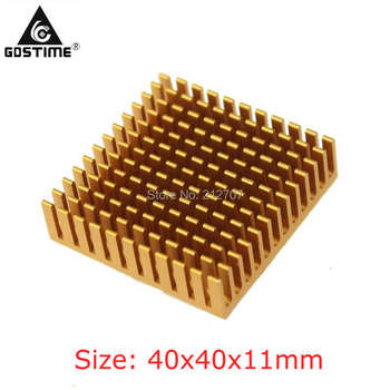 цена на 100 Pieces/Lot Gdstime 40x40x11mm Electronic Radiator Frofile Aluminum Heatsink for Processing Cooling