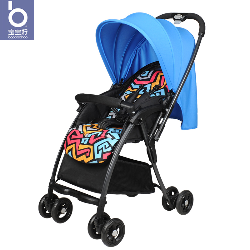 Baby stroller can sit reclining light folding summer breathable 5.3kg baby stroller multi-function baby car strollerBaby stroller can sit reclining light folding summer breathable 5.3kg baby stroller multi-function baby car stroller
