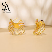 Женские сережки гвоздики sa silverage из стерлингового серебра