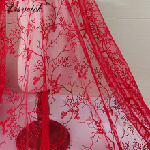 high quality 1yard Branch mesh embroidery Lace Fabric transparent net yarn diy Skirt Wedding Party Dress window gauze fabric
