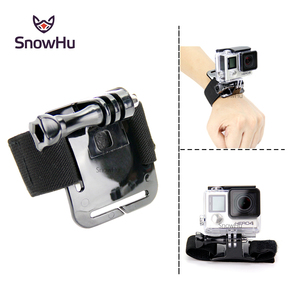 Image 2 - SnowHu for GoPro Hero 9 8 7 6 5 4 3 Accessories Black Elastic Adjustable Wrist Strap Mount for Go Pro Hero 8 SJ4000 GP93