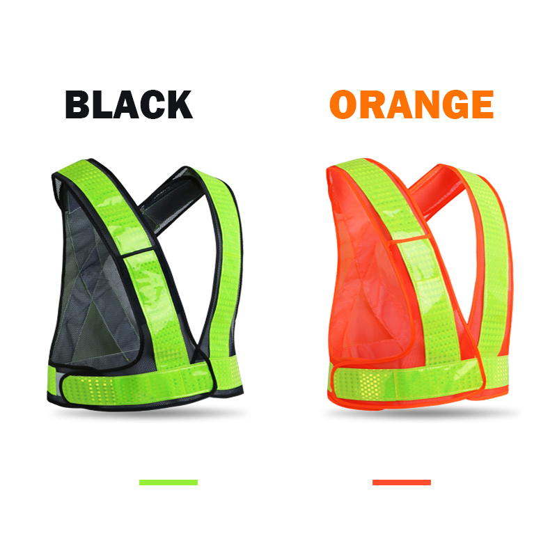 High visibility safety vests reflective running waistcoat with reflective crystal lattice adjustable size with hook and loopsHigh visibility safety vests reflective running waistcoat with reflective crystal lattice adjustable size with hook and loops