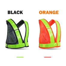 High visibility safety vests reflective running waistcoat with reflective crystal lattice adjustable size with hook and loops